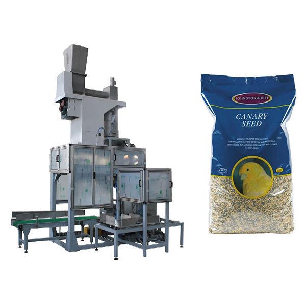 20kg Biji Open Bunch Bagging & Bag Filling Timbangan Otomatis Grain Big Bags Packing Machine