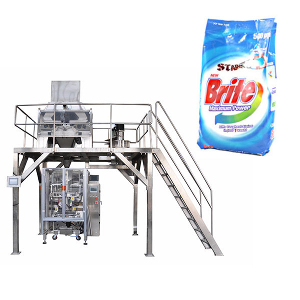 4 head linear weigher washing powder detergent powder packing machine