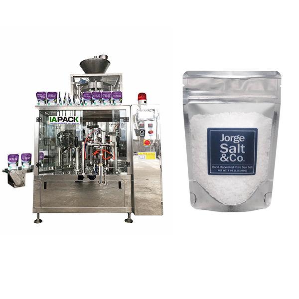Máquina de embalagem giratória automática Premade para sal