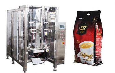 automatic quad seal bag packaging machine volumetric cup filling machine