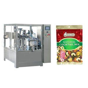 Nuts rotary zipper bag packaging machine