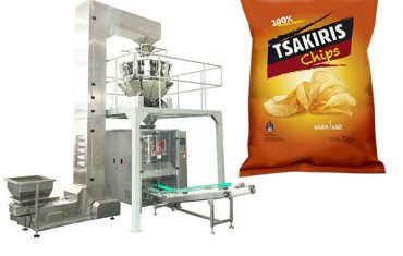 72g potato chips snack packing machine