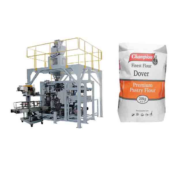 Powder Bagging Machine 20kg Flour Big Bag Packing Machine With Sealing Machine