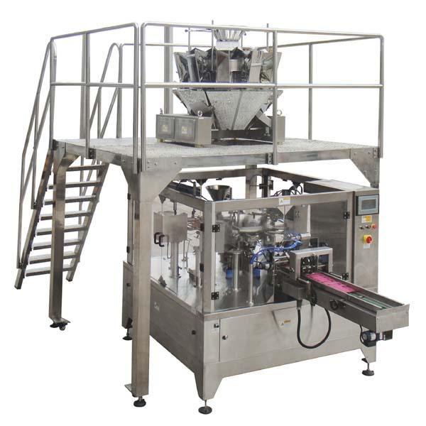 Máquina de embalagem automática giratória do selo da suficiência do saco do zíper para porcas das sementes