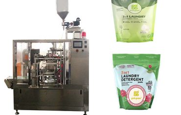 laundry liquid rotary premade pouch packing machine