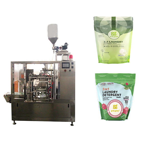Rotary Laundry liquid premade pouch packing machine