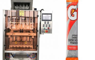 small sachets powde multi-line packing machine