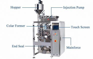 liquid vertical form fill seal machine with pistion filler