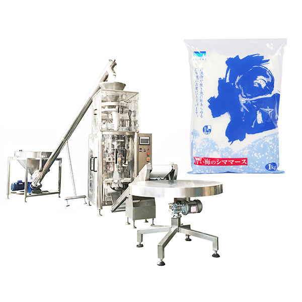 Vertical Form Fill Seal Machine With Volumetric Cup for Salt