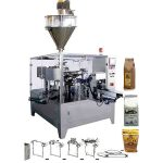 Automatic pre-formed bag taking filling sealing machine